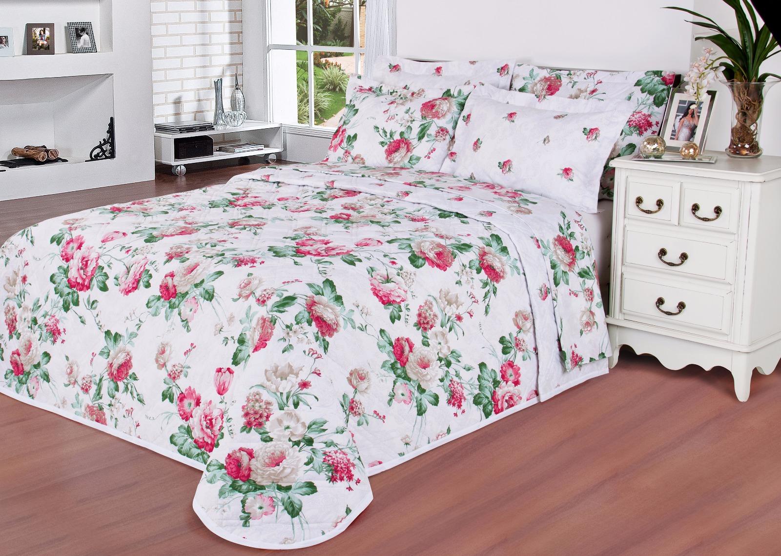 1 foto cobre leito estampa floral